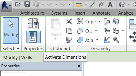 how to delete dimensions in revit