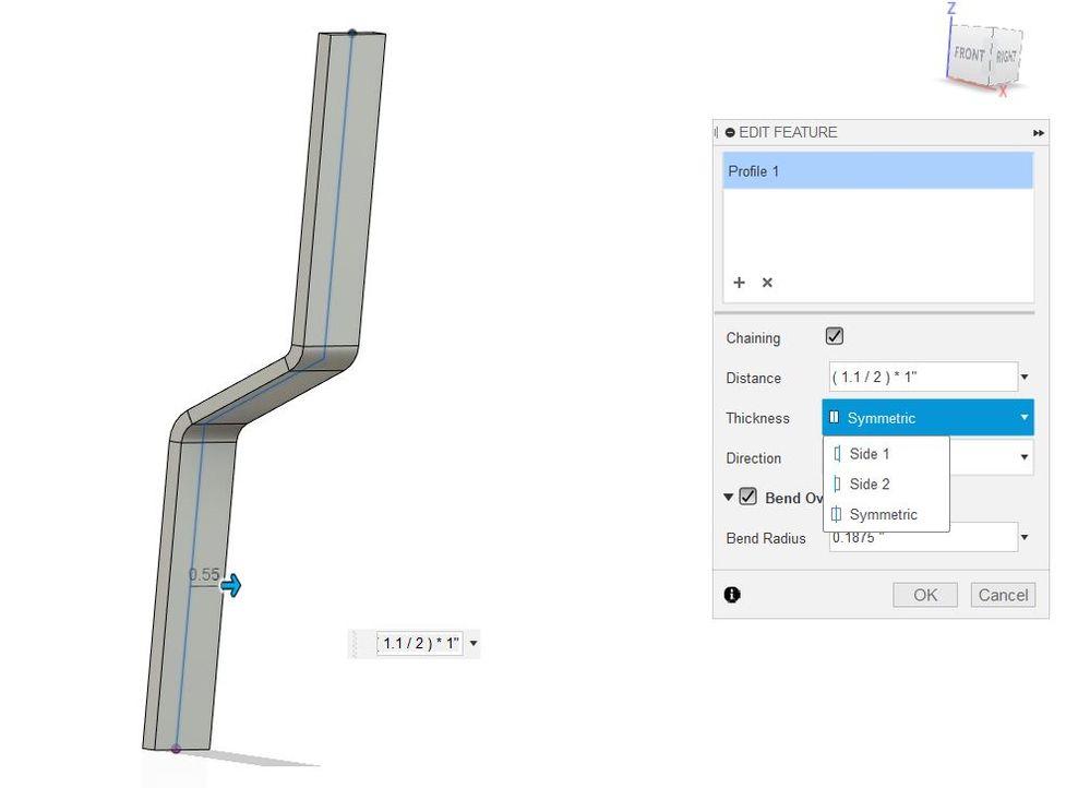 Sheet Metal Bend Radius Bug Autodesk Community Fusion 360