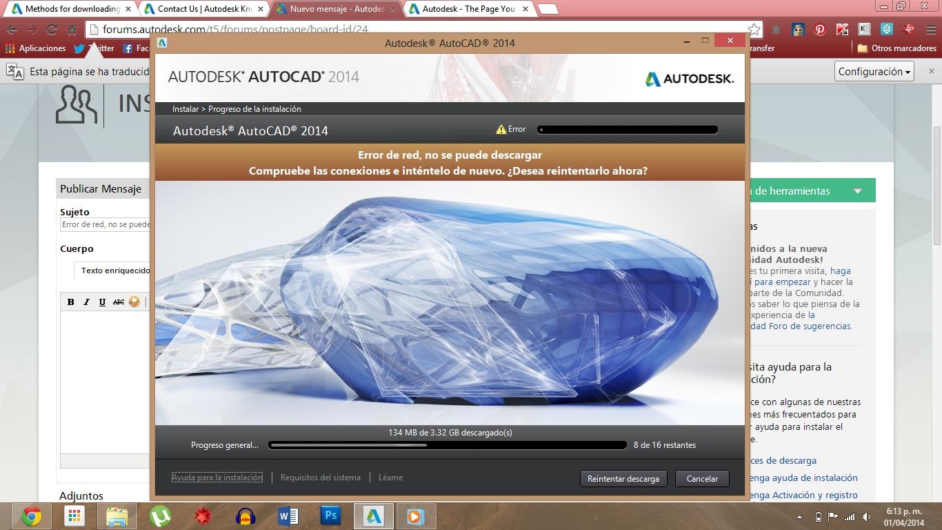 Error De Red No Se Puede Descargar Autocad 2014 64 Bits Autodesk Community Subscription Installation And Licensing