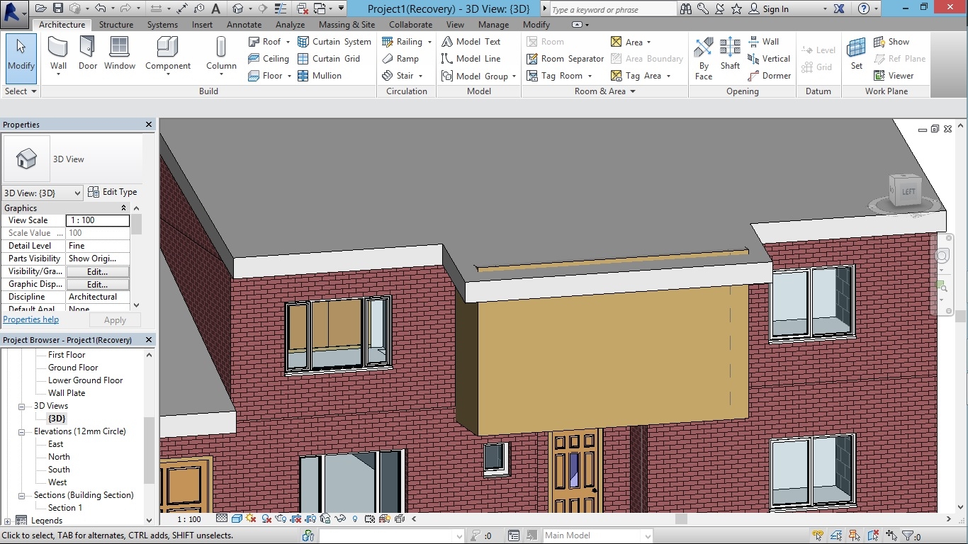 Revit Pitched Roof With Flat Top