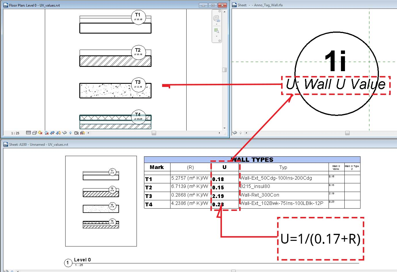 Drawing Lines In Revit : Text tab size aware wall tag and calculated value revit