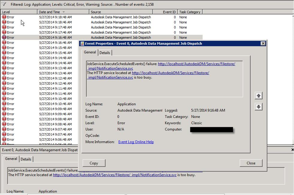 autodesk installer error unhandled exception