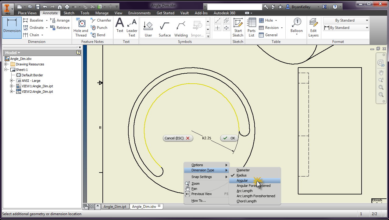 how to show dimensions in autocad 2014