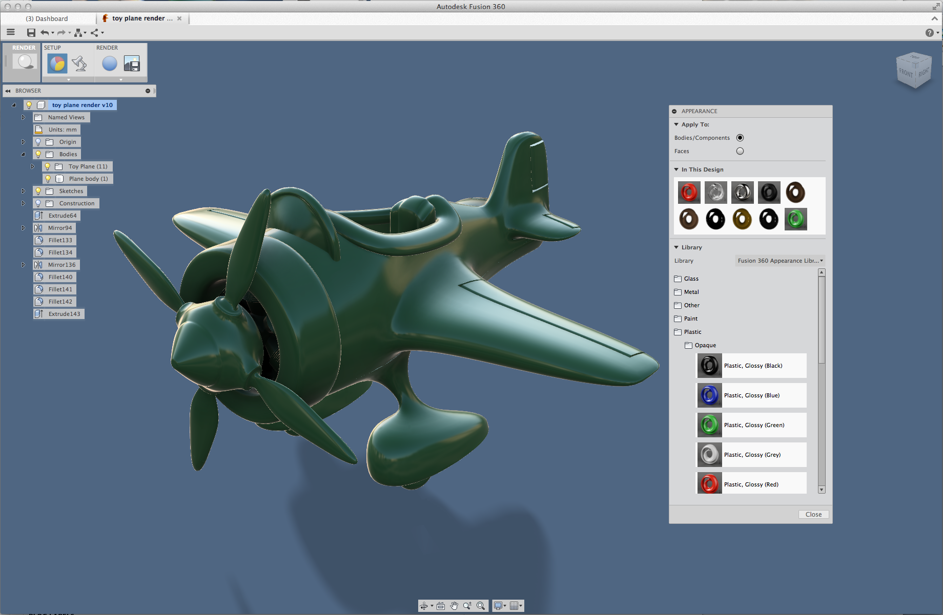 Making it Look Good: Apply and Edit materials in Fusion360