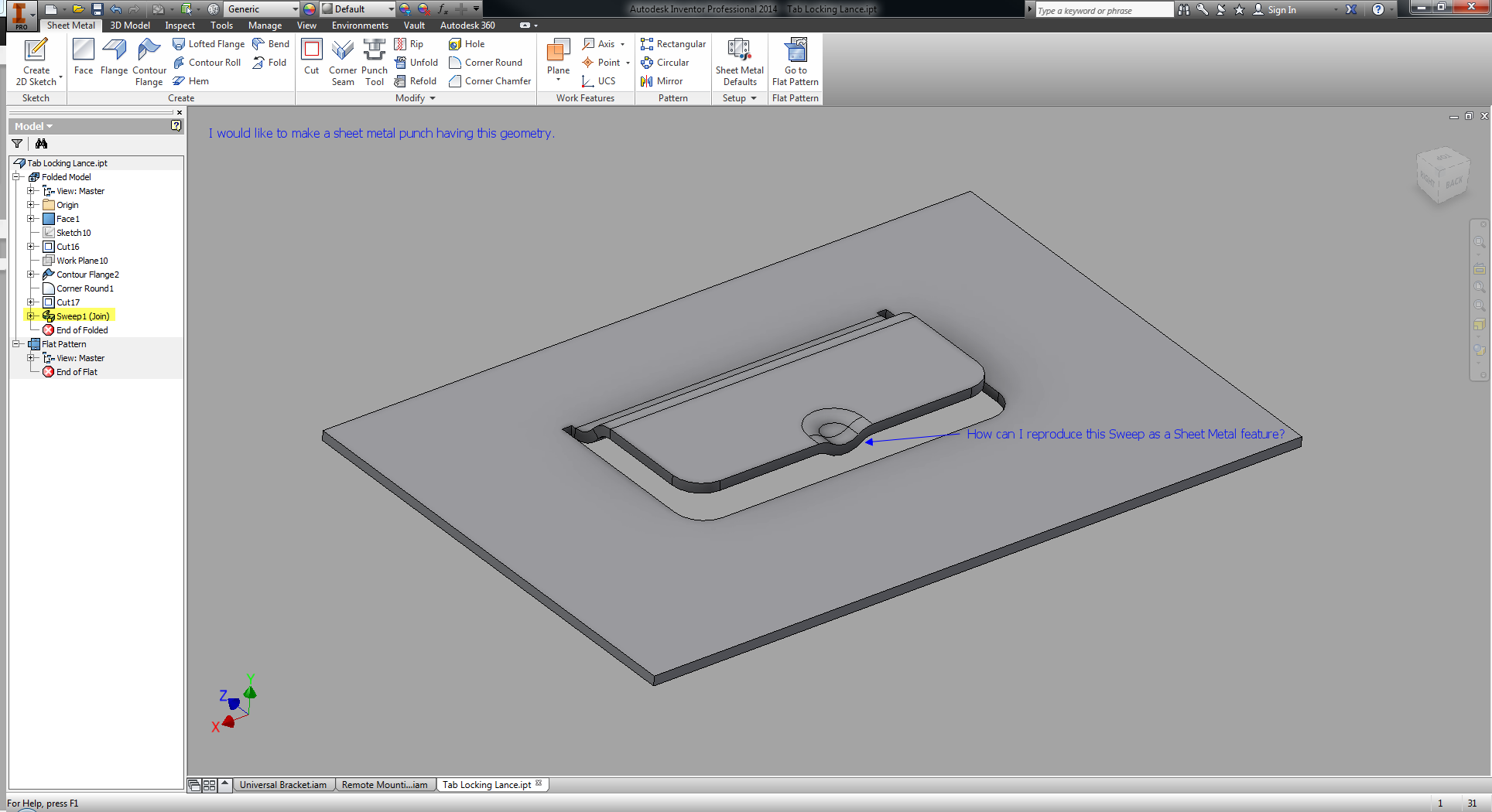 Solved Need To Make A Sheet Metal Punch Having This