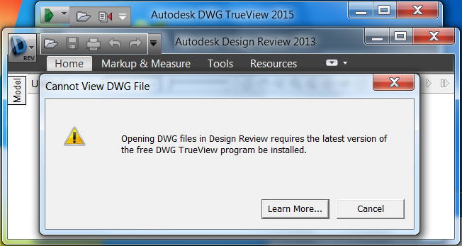 Solved: Opening DWG files in Design Review requires latest