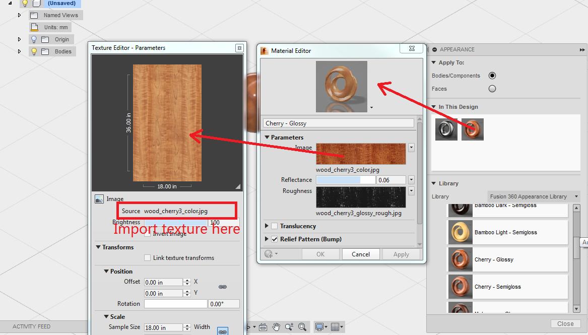 Import a Texture into Fusion - Autodesk Community- Fusion 360