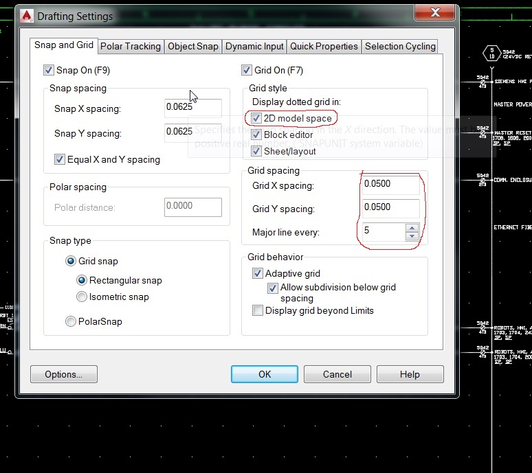 solved  autocad 2015 - grid and snap mode