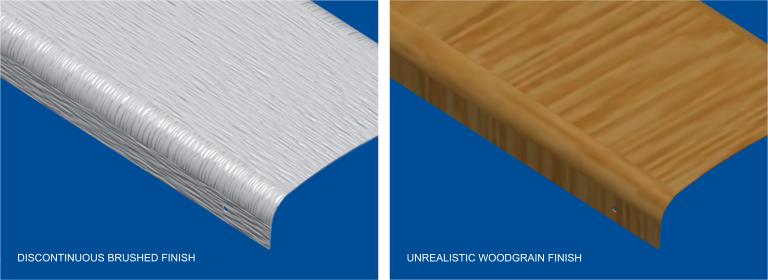 Sheet Metal Brushed Finish And Wood Grain Orthotropic