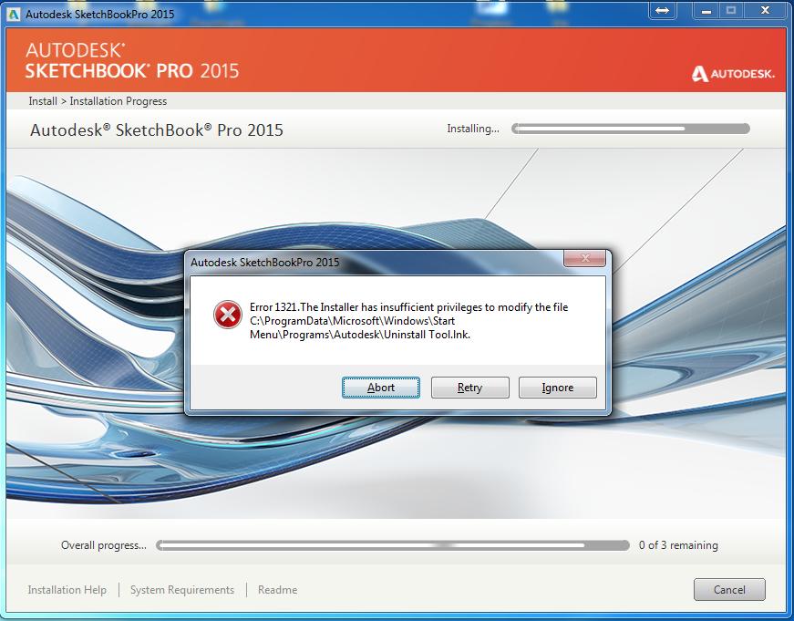 Solved: ERROR 1321 ON AUTODESK SKETCHBOOK PRO 2015 - Autodesk