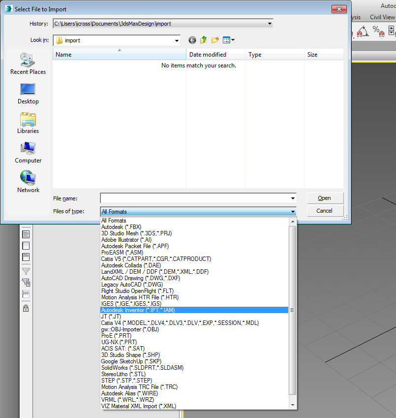 Inventor File View In 3d Max 2015 Autodesk Community