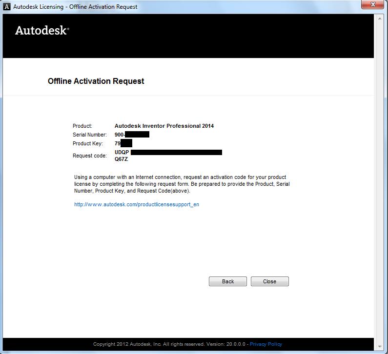 activation code for offline usage