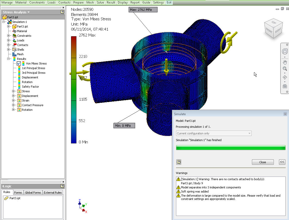 stress analysis This is an intro to autodesk inventors stress analysis feature when making parts and assemblies it is extremely important to know where the critical stress.
