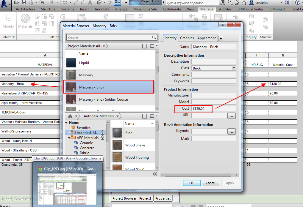 How to calculate the cost of material and labor in Revit? - Autodesk