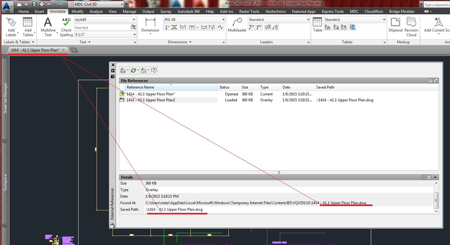 Xref drawing to itself autodesk community for Fenetre xref autocad