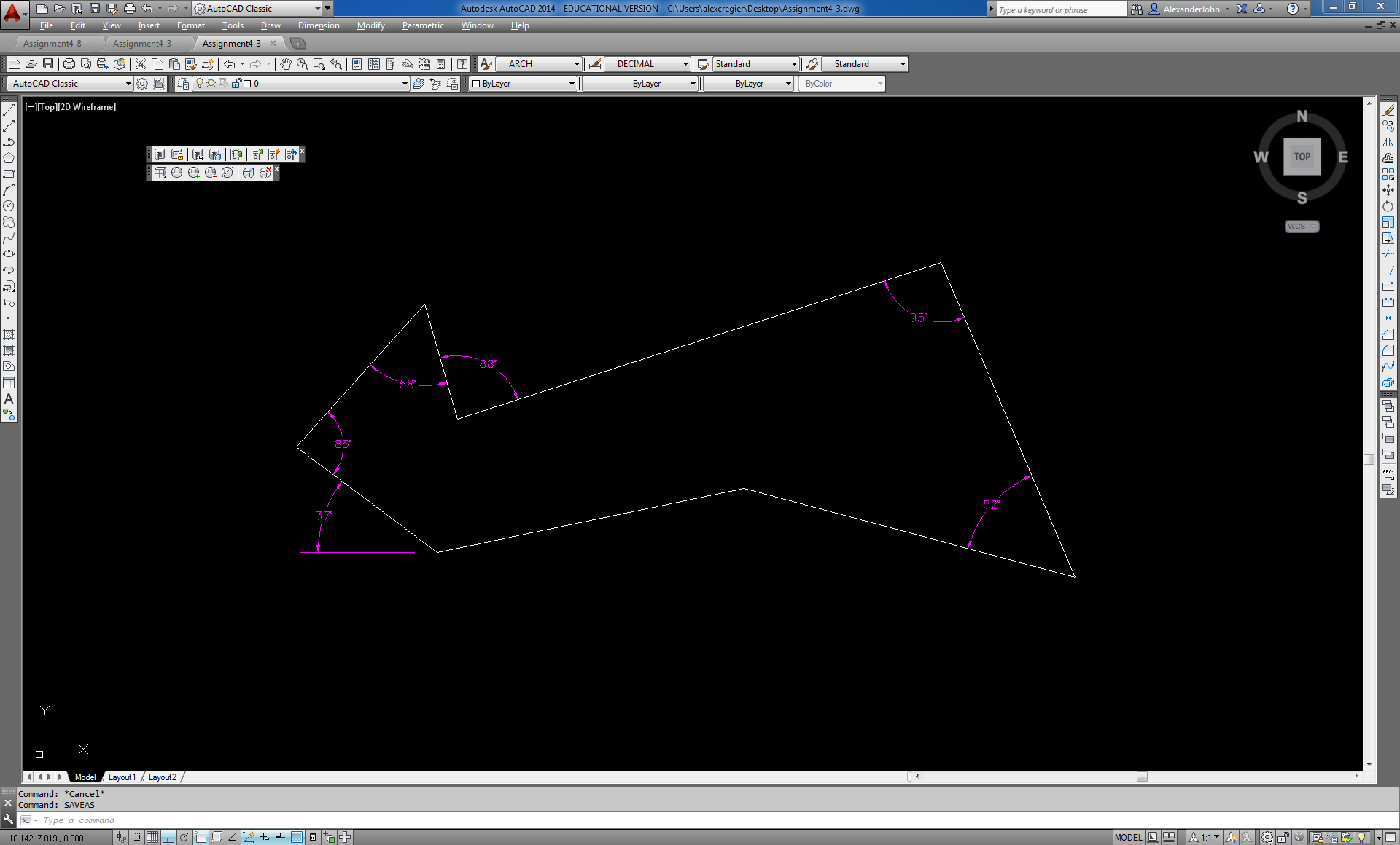 Drawing Lines In Autocad Using Coordinates : Polar coordinate relative to the previous line autodesk