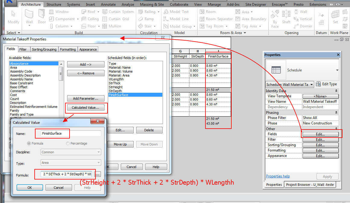 how to change the material of a wall in revit