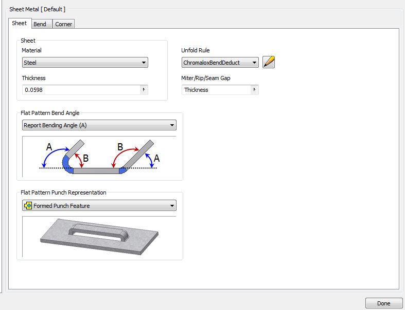 Solved Sheet Metal Bend Table Errors Autodesk Community