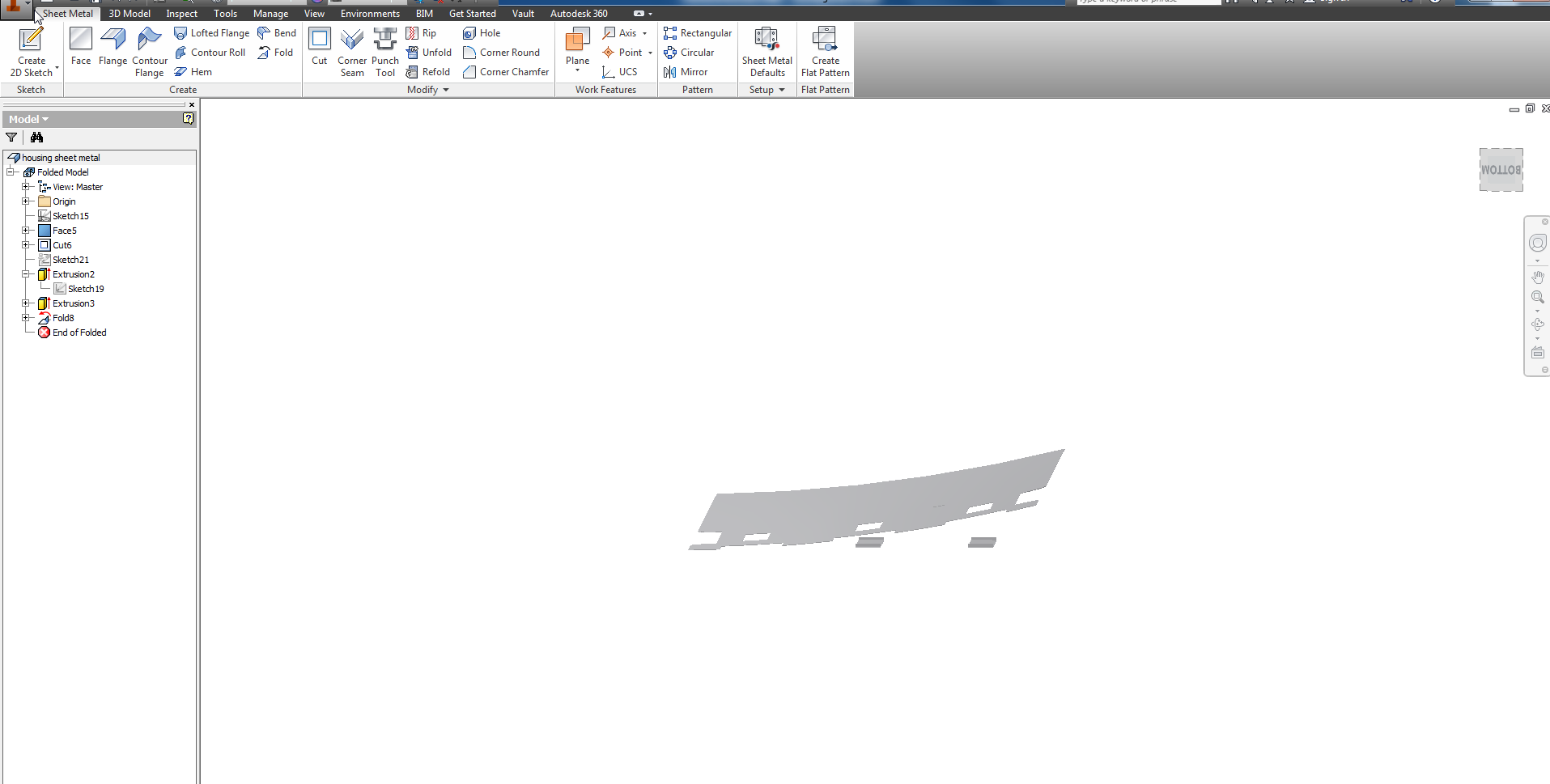 Solved Metal Sheet Extrusion Punch Fold Autodesk