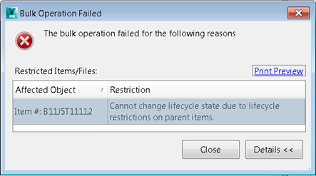 Cannot change lifecycle state due to lifecycle restrictions