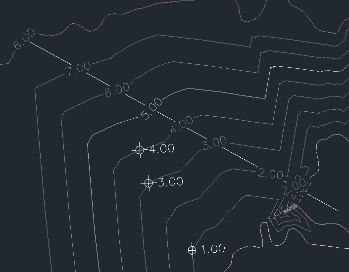 Contour Line Drawing In Autocad : Creating surface and contours from measurement survey data in