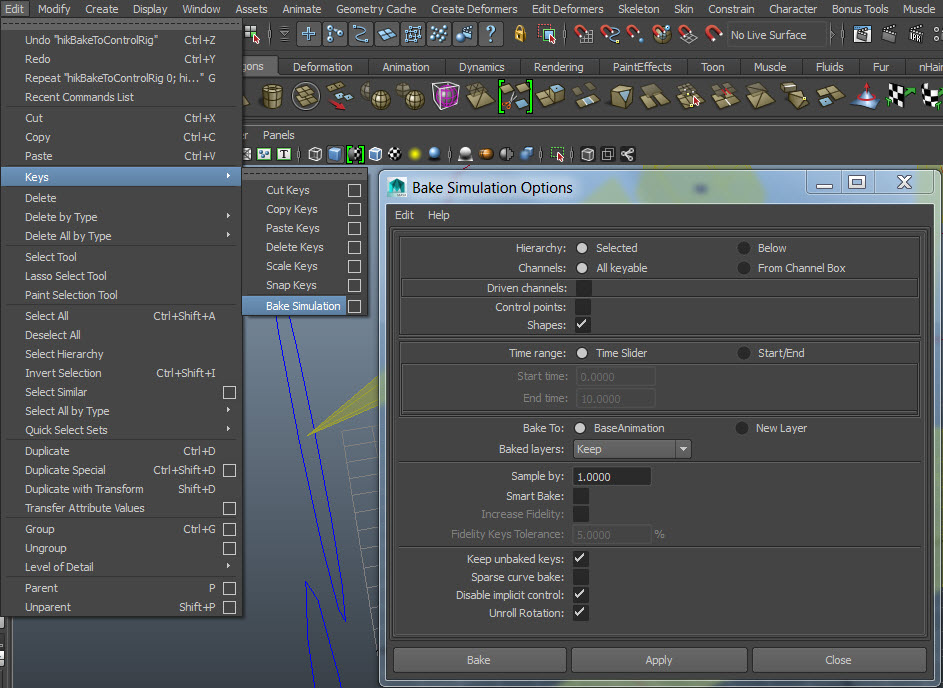 Solved: Baking animations to control rig - How? - Autodesk