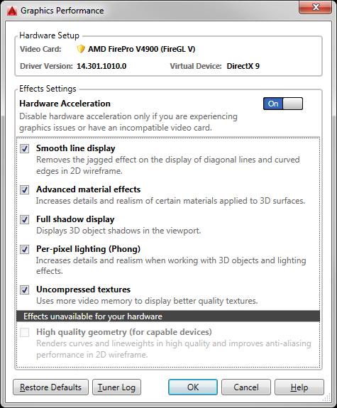 AutoCAD 2016: How to Use DirectX 11? - Autodesk Community- AutoCAD
