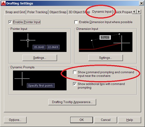 how to show distance moved in autocad