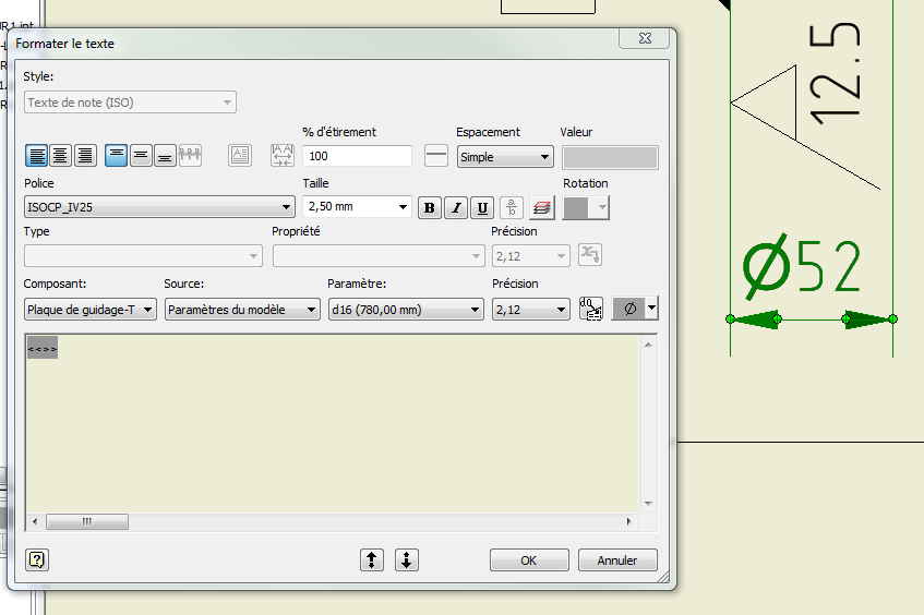 how to change dimension text size in inventor 2018