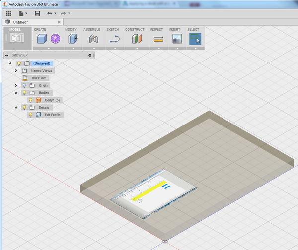 Applying a decal with a bump map - Autodesk Community- Fusion 360