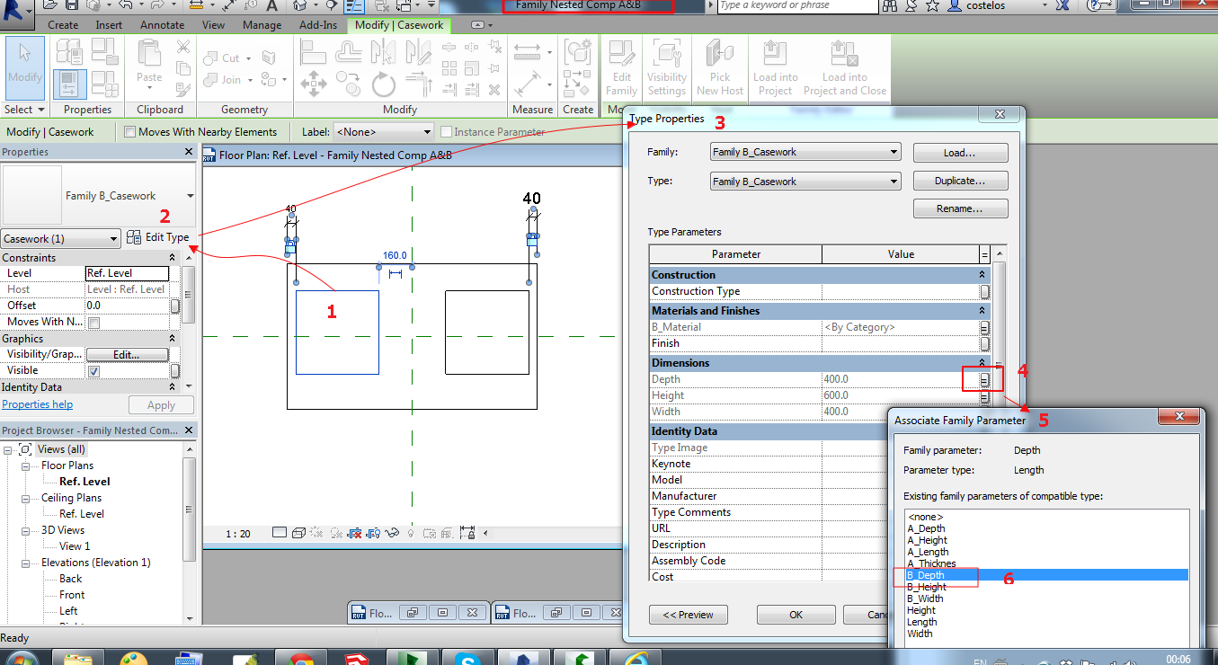 Solved: Nested families, shared parameters - Autodesk