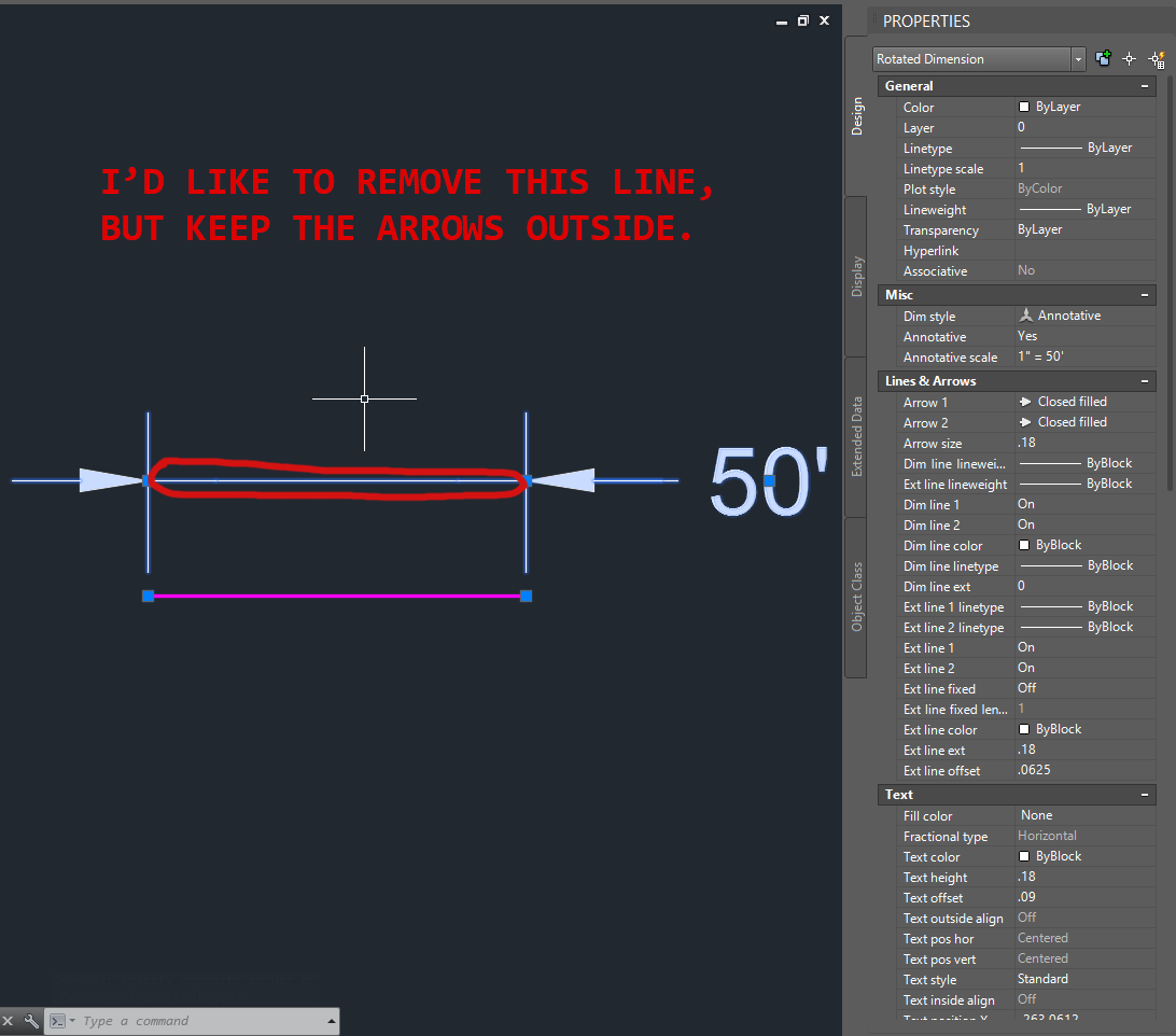 how to add arrow in autocad