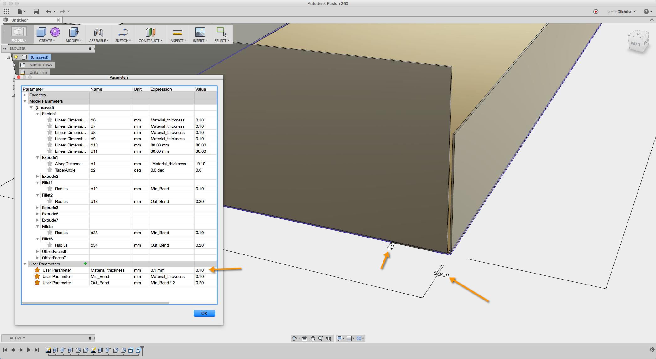 Using Sketch For Sheet Metal Bending Models Autodesk