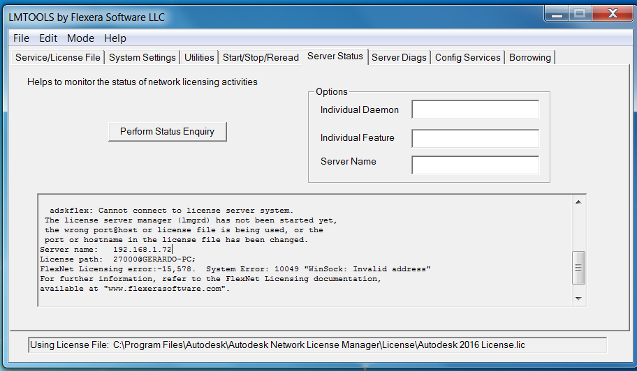 Cannot connect to the license server system - Autodesk Community