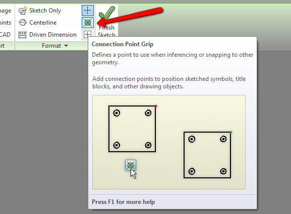 How to define insertion point in sketched symbol in IDW? - Autodesk