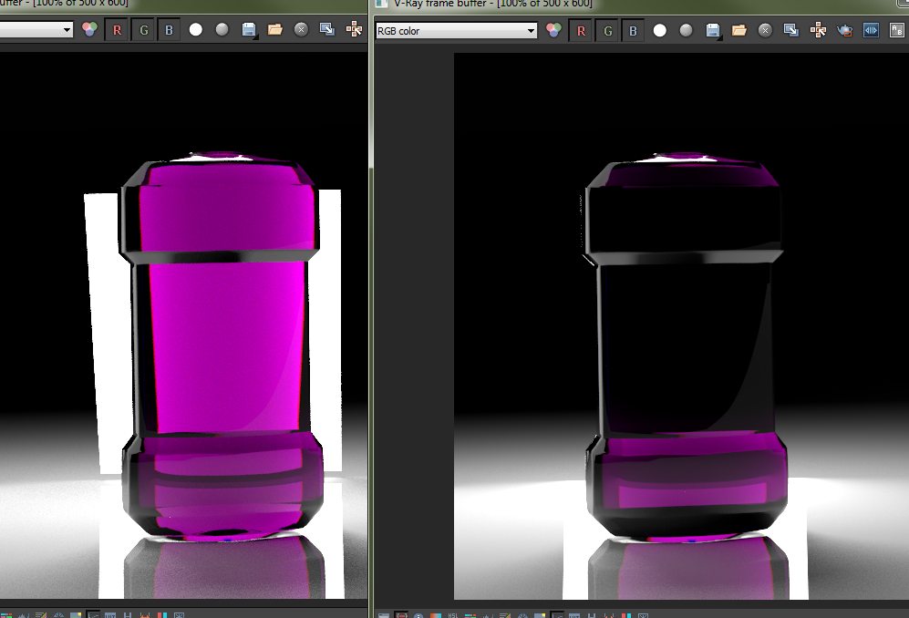 VRay light made 'Invisible' behind clear object removes refraction