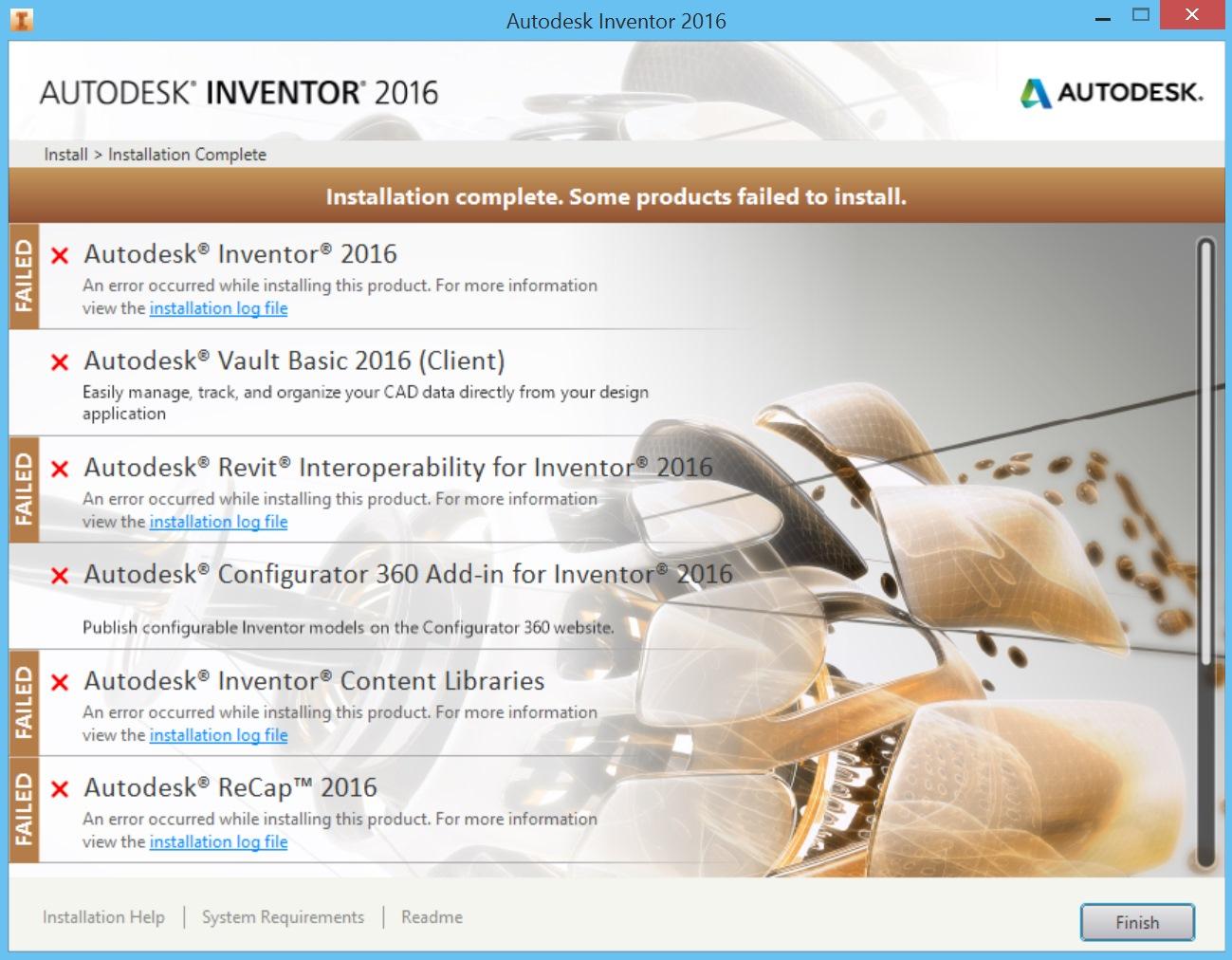 Downloading Autodesk Inventor 2016 Problems - Autodesk