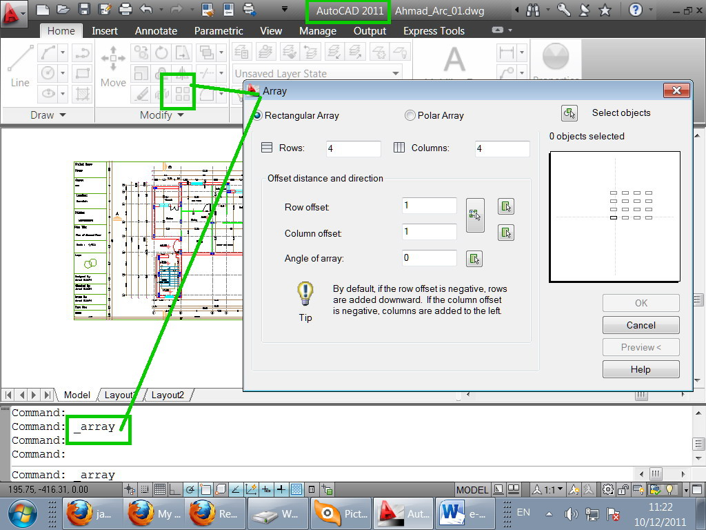 how to draw a box in autocad
