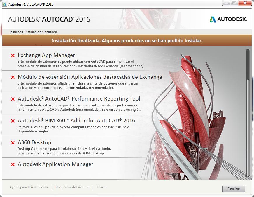 Solucionado Error Al Instalar Autocad 2016 Autodesk