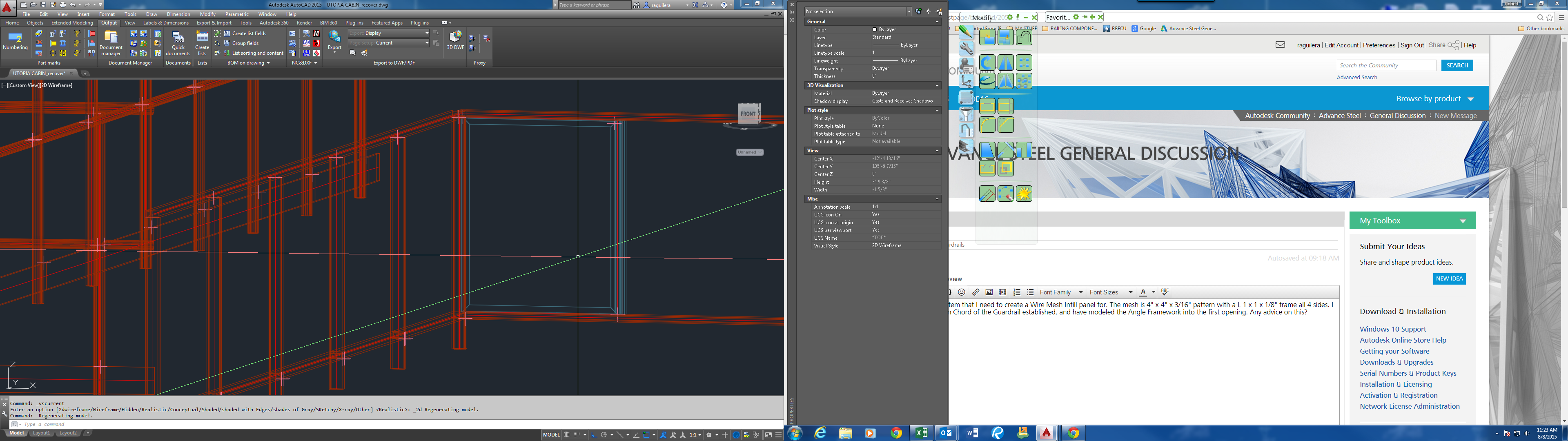 wire mesh infill panel on guardrails autodesk community