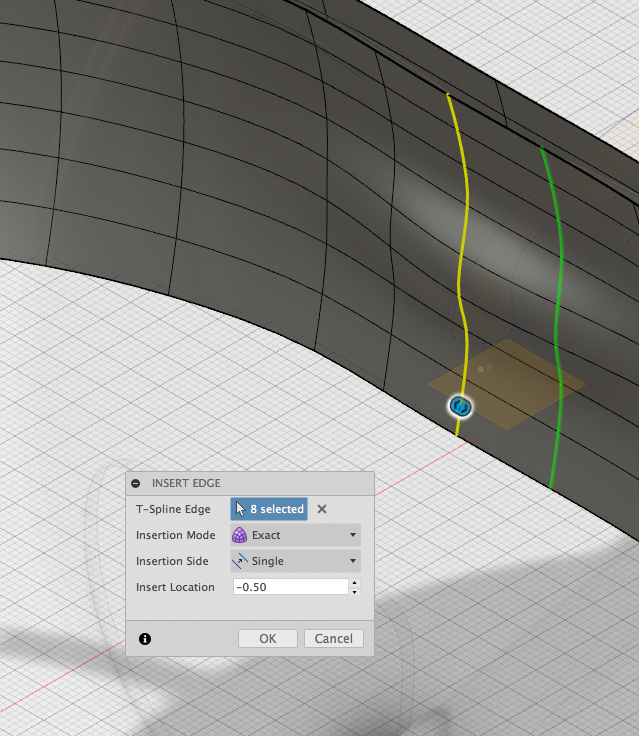 T spline insert edge bug autodesk community for T spline architecture
