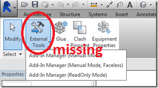 can't find exteral tools in add-in tab - Autodesk Community