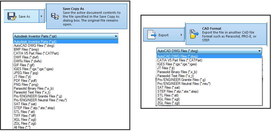 IV 2014: Save Copy As Vs Export Cad Format - Autodesk Community