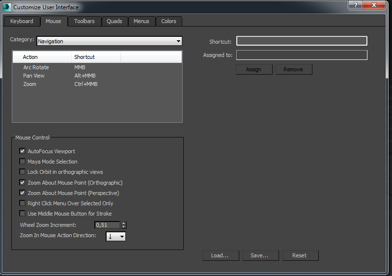 Changing mouse settings in Maya (navigation)  - Autodesk