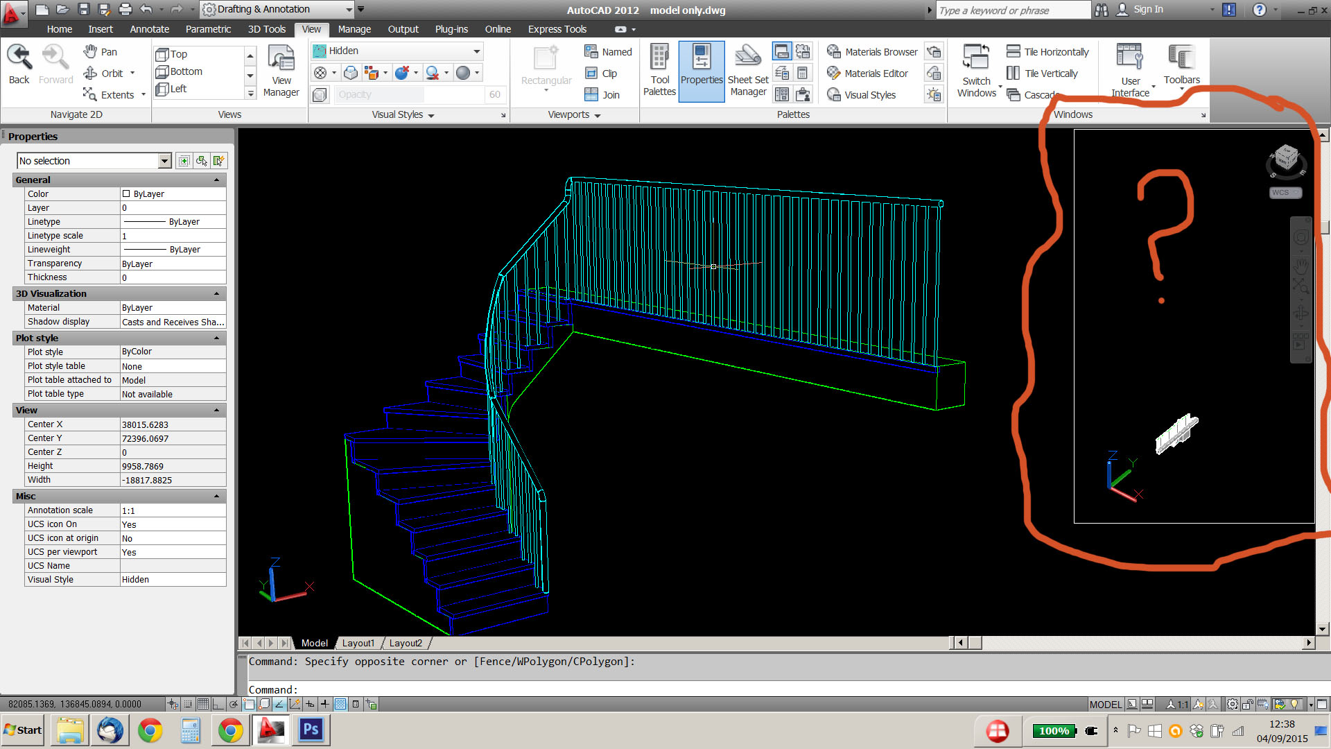 autocad how to create modelspace