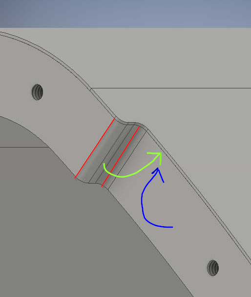 Solved Sheet Metal Part With Flanges Over A Curved