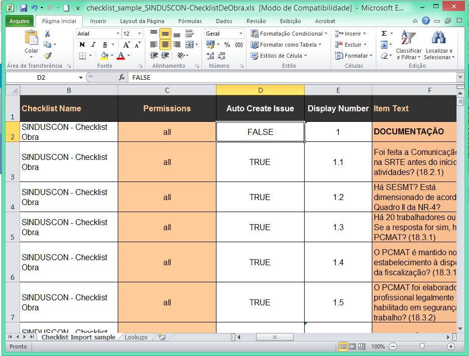 Import Checklist from Excel - Autodesk Community- BIM 360 Field