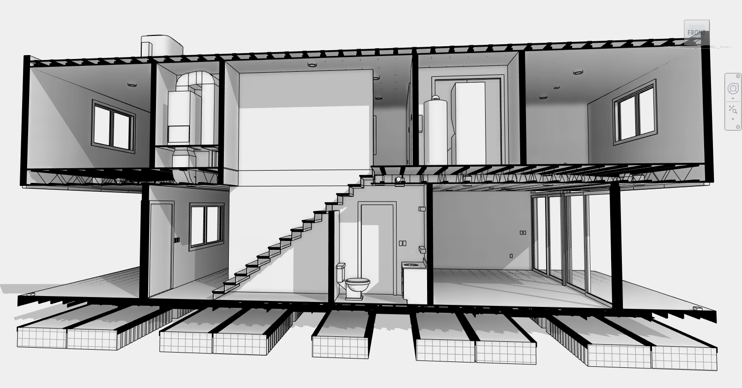 Elevation presentations autodesk community for Revit architecture modern house design 1