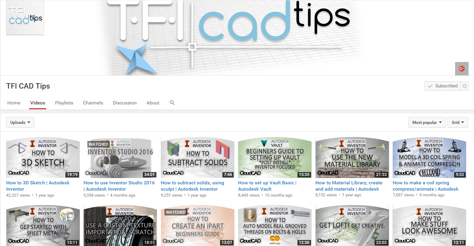 Cool Tfi Cad Tips Inventor Guides Tutorials Free Youtube Download Free Architecture Designs Lukepmadebymaigaardcom