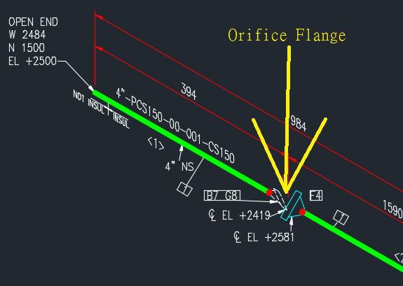 Iso Drawing Eror   For Orifice Flange